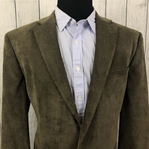 Lauren Ralph Lauren 46R Brown Corduroy Sports Coat